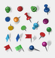 colored pins vector image vector image