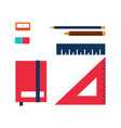colorful office stationery supplie vector image