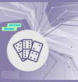 domino icon on purple abstract modern background vector image