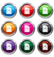 file html set 9 collection vector image vector image