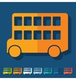 Flat design bus double decker