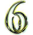 Font NUMBER 6 vector image vector image