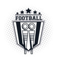 football chain crew icon vector image vector image
