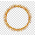 gold circle glitter frame golden confetti dots vector image vector image