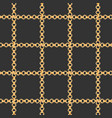 golden chains fashion fabric seamless pattern vector image vector image