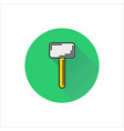 hammer icon on white background vector image vector image