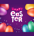happy easter greeting card with holiday elements vector image vector image