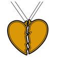 heart love broken necklace
