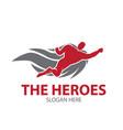 heroes logo designs simple modern vector image