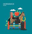 horseback riding flat style design vector image
