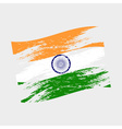 india color national flag grunge style eps10 vector image vector image
