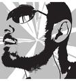 man portrait vector image