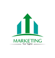 Marketing logo vector image