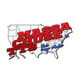 massachusetts state with us state vector image vector image