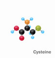 molecular omposition and structure of cysteine vector image