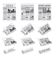 News Sport Business Newspaper vector image