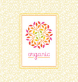 organic and natural emblem vector image vector image