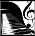 piano keyboard with a symbolic note vector image vector image
