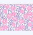 pink peonies pattern vector image vector image