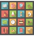 School flat icons set vector image vector image