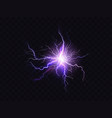 shining purple lighting electrical vector image