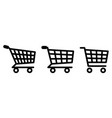 shopping cart icon symbol used to add items to vector image