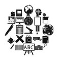 survey icons set simple style vector image vector image