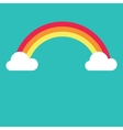 symbol of rainbow and clouds vector image vector image