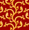 Thai art pattern on a red background vector image vector image