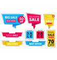 trendy flat banners offers advertizing discount vector image vector image