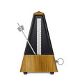 vintage wooden metronome vector image vector image