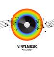 vinyl record realistic musical retro disk vector image vector image