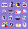 voice functions flat icons vector image vector image