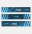 web header set of horizontal abstract banners vector image vector image