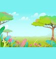 wild savannah nature summer scenery background vector image