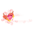 love heart with space for your text valentine and vector image
