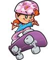 Skateboard Girl vector image