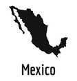 mexico map in black simple vector image