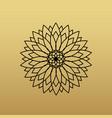 one flower symbol on golden background vector image