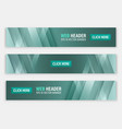 abstract website header horizontal banners vector image