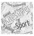kitesurfing accident Word Cloud Concept vector image
