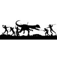 Prehistoric hunt vector image