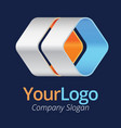 3d logo moving forward vector image