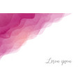 abstract background with pink waves hand drawn vector image