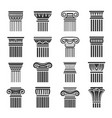 antique columns in greek and roman style vector image vector image