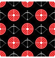 archery seamless pattern - seamless texture red vector image vector image