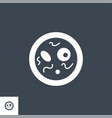 bacteriology related glyph icon vector image vector image
