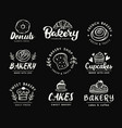 bakery logotype set badge labels collection vector image