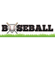 Baseball Word Art vector image vector image