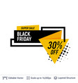 black friday sale badge geometric shapes and text vector image vector image